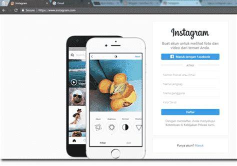 membuat web lewat html buat akun instagram lewat google daftar instagram web di