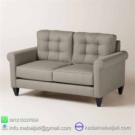 Daftar Sofa Kayu Jati beli sofa 2 dudukan minimalis seri auckland kayu jati