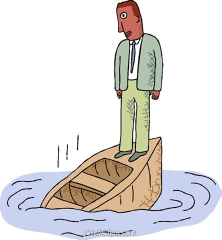 boat sinking clipart man on a sinking boat royalty free vector clip art