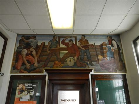 glen ellyn il downtown post office mural post