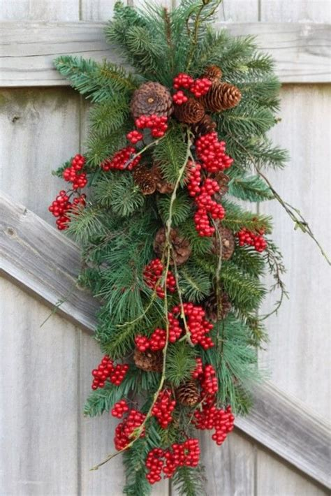 christmas swags red berries and swag on pinterest