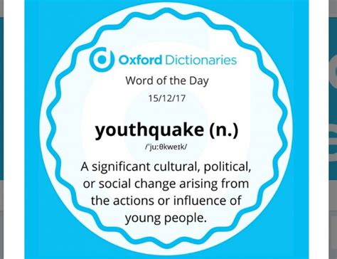 by oxford dictionaries have you been a part of youthquake oxford dictionaries declares it word of the year the