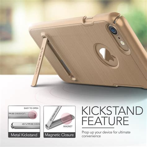 Verus Kickstand Iphone 7 Gold verus simpli lite skal till apple iphone 8 7 gold themobilestore