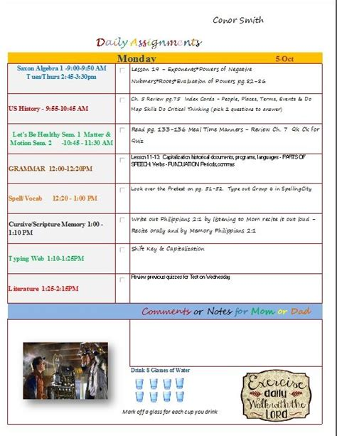 homeschool lesson plan template excel 24 best images about customized excel homeschool lesson
