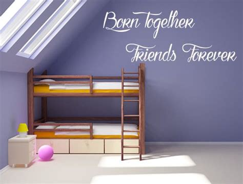 Wall Sticker Wallsticker Forever Friendship Sk7097 born together friends forever vinyl wall decal vinyls and friends forever