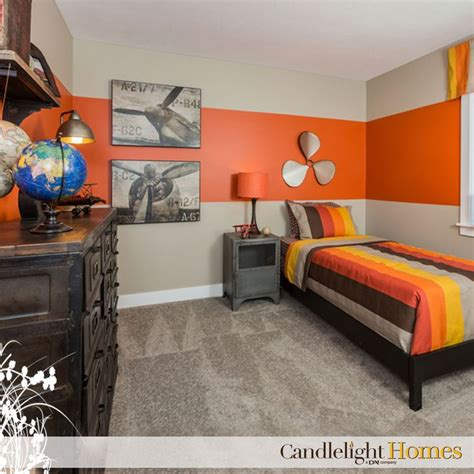 orange bedroom candlelight homes utah bedroom kids room tan carpet
