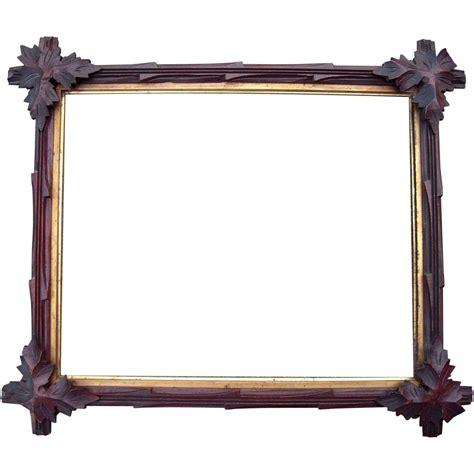corner frame carved walnut picture frame w corner leaves 13 quot x 16 quot from