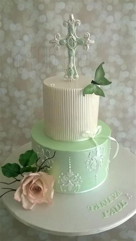 Butterfly Rumana holy communion cake cake by rumana jaseel religious cakes beautiful mint
