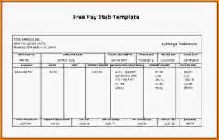 free pay stub templates free printable pay stubs template template design