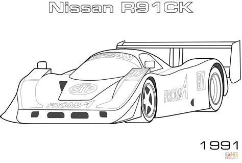 370z Coloring Page by Dibujo De Nissan R90c De 1991 Para Colorear Dibujos Para