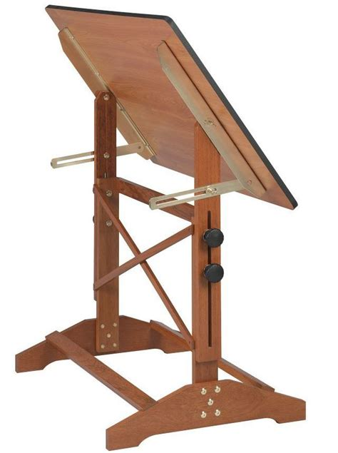 31x42 Pavilion Adjustable Wood Drafting Table Cherry Like Top Wood Drafting Tables