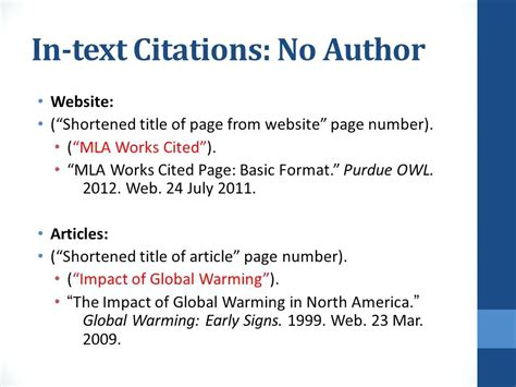 how do you cite a website in a research paper how do you cite a website in mla format without author