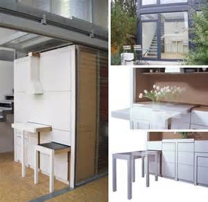 Fold Away Kitchen Table Compact All In One Furniture Design For Kitchen Dining