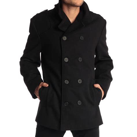 best mens pea coat alpine swiss jake mens pea coat wool blend breasted