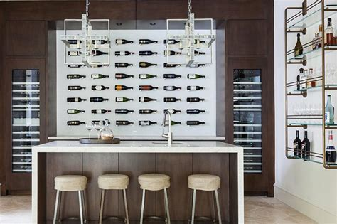 Small Kitchen Island With Seating contemporary wine cellar with wall wine bottle display