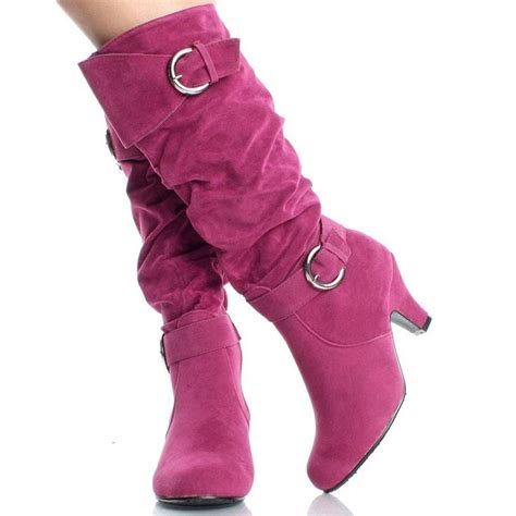 Aikatsu Pink Suede Knee High Boots 17 best images about shoes on heel boots