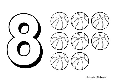 8 Numbers Coloring Pages Coloring Pages Pinterest Number 8 Coloring Pages