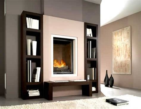 Fireplace Bookshelves Design Bookcase Designs Around Fireplace Plans Diy Ideas