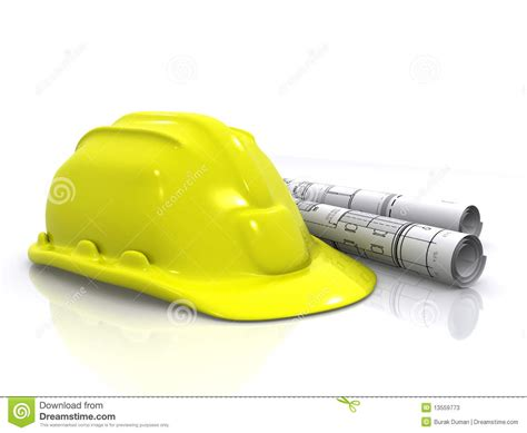 helmet design engineering engineer helmet and blueprints stock photos image 13559773