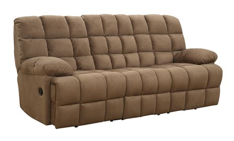 Coaster Reclining Sofa Coaster Pickett Reclining Sofa Mocha 601941 At Homelement