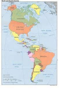 maps of and south america america map south america