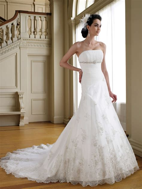 beautiful photos a line wedding dresses for