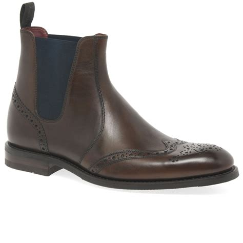 mens chelsea boots uk loake hoskins mens brogue chelsea boots charles clinkard