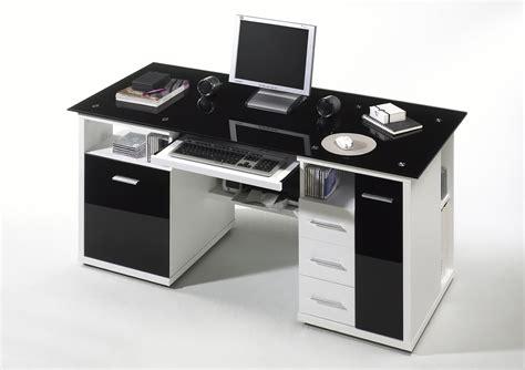 moderne schreibtische 53 schreibtisch home office weiss glas schwarz ebay
