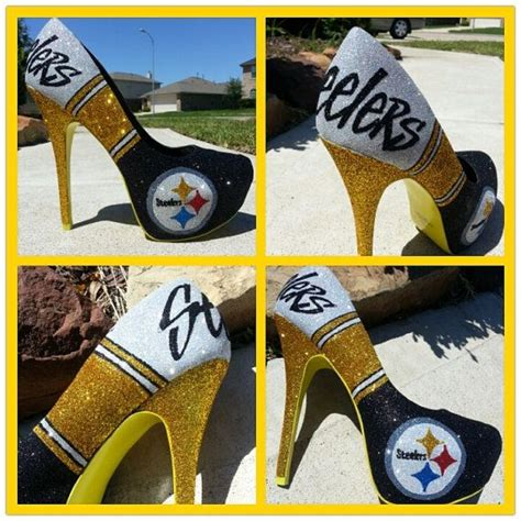 steelers high heels custom pittsburgh steelers heels by akkustomz on etsy