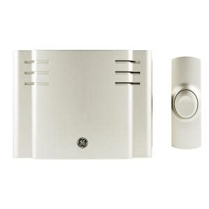 ge wireless lights and sounds of christmas ge wireless door chime with 8 sounds nickel 19303 the home depot