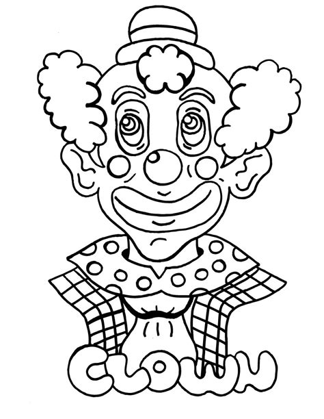 Free Printable Clown Coloring Pages For Kids Pictures To Colour For