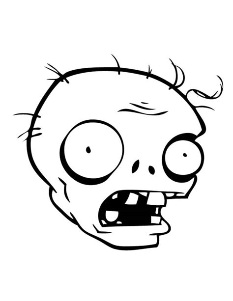 zombie mask coloring page zombie head coloring pages to print zombie best free