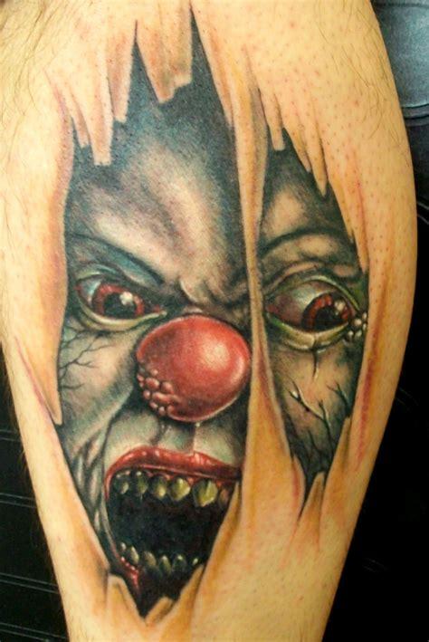 3d joker tattoo on leg 3d tattoos and designs page 14