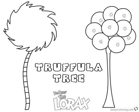 truffula tree coloring page lorax tree coloring page truffula tree free printable