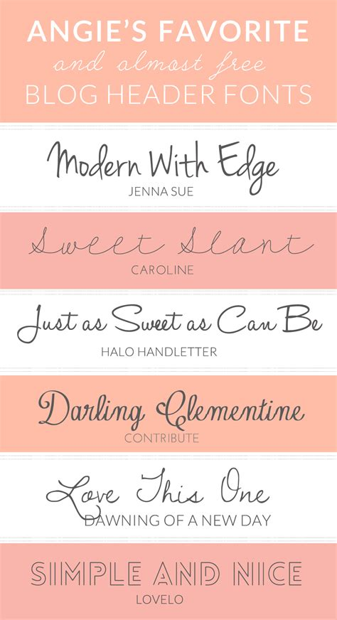 Design Font Blog | here are my favorite and free fonts for blog headers