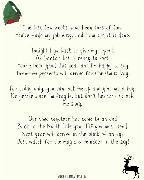 on the shelf goodbye letter template on a shelf goodbye letter free printable