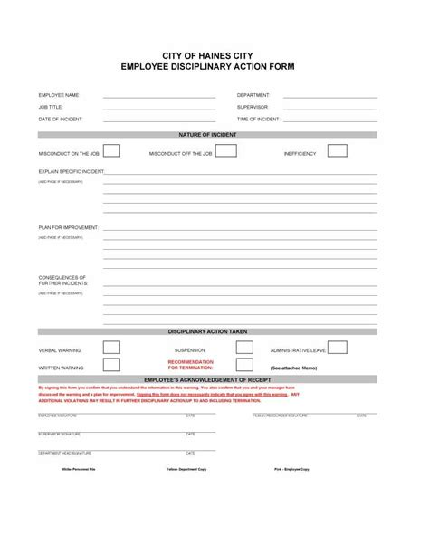 employee write up form template 46 effective employee write up forms disciplinary