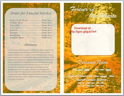 Funeral Order Of Service Program Download For Word By Sammbither On Deviantart Free Funeral Program Template For Word 2