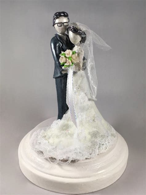 Handmade Wedding Cake Toppers - custom wedding cake topper 2 by minnichi on deviantart