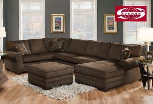 Plush Sectional Sofa Simmons Tenner Deluxe Beluga Plush Corduroy Sofa Sectional