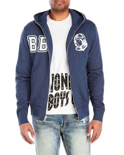 Hoodie Sweater Stusy billionaire boys club study hoodie in blue for navy save 55 lyst