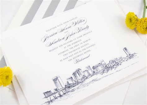 Wedding Invitations Richmond Va by Richmond Virginia Skyline Wedding Invitations