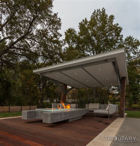 Backyard Shade Structures Geometric Mid Century Modern Tributary Pools Amp Spas