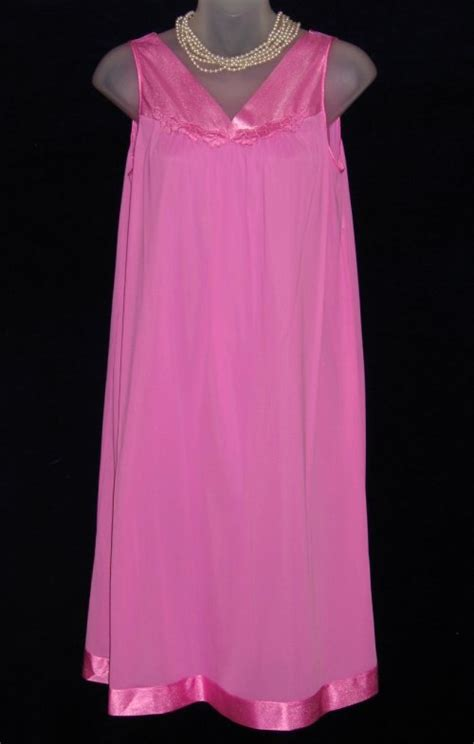 vanity fair pink applique nightgown at option