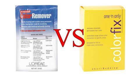 one n only color fix one n only colorfix l oreal effasol color remover vs one n