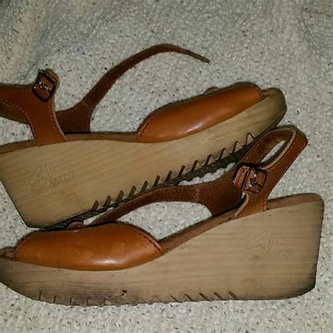Wedges Vintage Leather 93 sbicca shoes vintage leather wedges from megan s