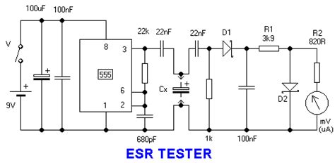 capacitor esr delta capacitor esr tester schematic 28 images smith esr capacitor tester or meter can help to