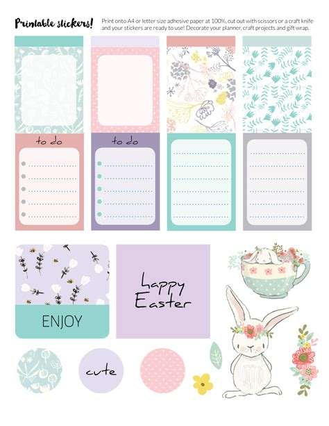 free printable easter planner stickers free printable easter stickers for planners gift wrapping