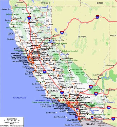 california map road highway map of california california map