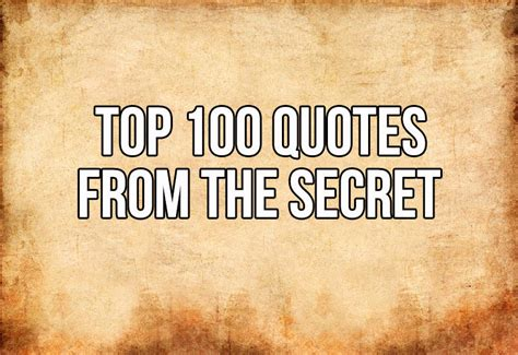 "Top 100 Quotes From ""The Secret"" - In5D Esoteric ..."